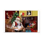 Santa's Shih Tzu (#1) 22x14 Wall Peel