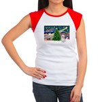 XmasMagic/Shih Tzu (P) Women's Cap Sleeve T-Shirt