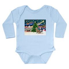 Xmas Magic & S Husky Long Sleeve Infant Bodysuit