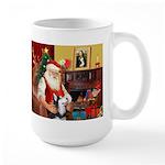 Santa's Sib Husky Large Mug