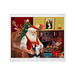 Santa's Sib Husky Throw Blanket