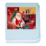 Santa's Sib Husky baby blanket