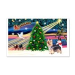 Xmas Magic & Silky Terrier 22x14 Wall Peel