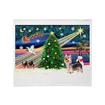 Xmas Magic & Silky Terrier Throw Blanket