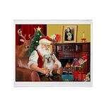 Santa/Tibetan Spaniel Throw Blanket