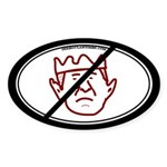 Down With King George Oval Sticker