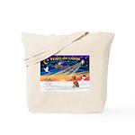 XmasSunrise/ Vizsla #1 Tote Bag