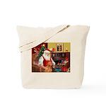 Santa's Vizsla Tote Bag