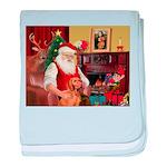 Santa's Vizsla baby blanket