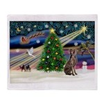 XmasMagic/Weimaraner 2 Throw Blanket