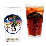 XmasSigns/Corgi Pup (Z) Drinking Glass