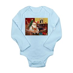 Santa's 2 Corgis (P2) Long Sleeve Infant Bodysuit