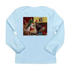Santa's Welsh Corgi (7b) Long Sleeve Infant T-Shir