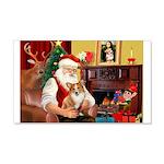 Santa's Corgi (#3P) 22x14 Wall Peel
