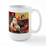 Santa's Corgi (#3P) Large Mug