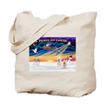XmasSunrise/2 Westies Tote Bag