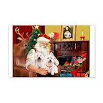 Santa's Westie pair 22x14 Wall Peel