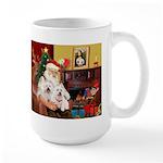 Santa's Westie pair Large Mug