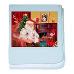 Santa's Westie pair baby blanket