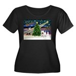 Xmas Magic & Westie Women's Plus Size Scoop Neck D