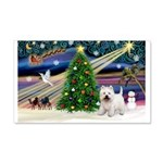 Xmas Magic & Westie 22x14 Wall Peel