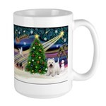 Xmas Magic & Westie Large Mug