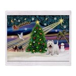 Xmas Magic & Westie Throw Blanket