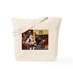 Santa's Whippet Tote Bag