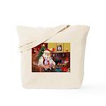Santa & his 2 Whippets Tote Bag