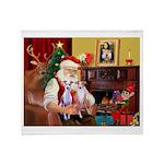 Santa & his 2 Whippets Throw Blanket