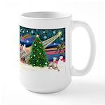 Xmas Magic & Whippet Large Mug