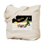 Night Flight/5 Yorkies Tote Bag