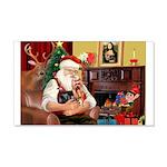 Santa / Yorkie (#9) 22x14 Wall Peel