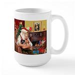 Santa / Yorkie (#9) Large Mug