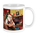 Santa / Yorkie (#9) Mug