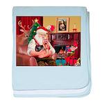 Santa / Yorkie (#9) baby blanket