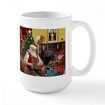 Santa's Yorkie (#11) Large Mug