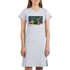 Xmas Magic/Yorkie #2 Women's Nightshirt