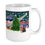 Xmas Magic & Yorkie Large Mug