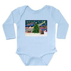Xmas Magic & Yorkie Long Sleeve Infant Bodysuit