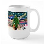 XmasMagic/3 Yorkies Large Mug