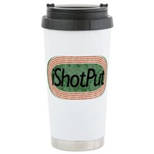 i Shot Put Track and Field Ceramic Travel Mug