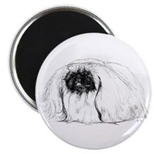"Pekingese in Profile 2.25"" Magnet (10 pack)"