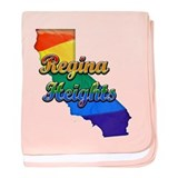 Regina Heights, California. Gay Pride baby blanket