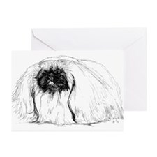 Pekingese in Profile Greeting Cards (Pk of 10)