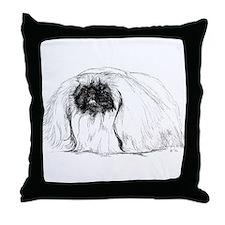 Pekingese in Profile Throw Pillow