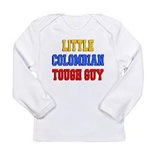 Little Colombian Tough Guy Long Sleeve Infant T-Sh