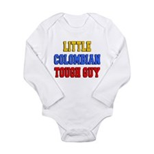 Little Colombian Tough Guy Long Sleeve Infant Body