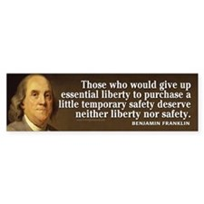 Ben Franklin Quotes Bumper Sticker