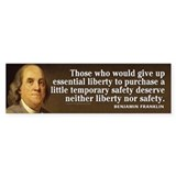 Ben Franklin Quotes Car Sticker